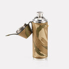 MTP Camo Leather Hunter Flask Open View