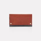 Brown Finsbury Leather Travel Wallet Front View