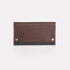 Dark Brown Finsbury Leather Travel Wallet Front View