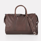 Dark Brown Finsbury Leather Overnight Bag Front View