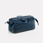 Marine Brooklyn Leather Small Wash Bag Front/Side View