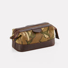 MTP Camo Leather Small Wash Bag Front/Side View