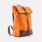Orange Canvas Backpack Front View