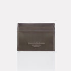 Dark Brown Brooklyn Leather Card Case Front View