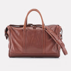 Brown Finsbury Leather Overnight Bag Front View