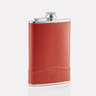 Tan Bridle Leather 8oz Hip Flask