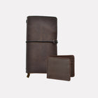 Dark Brown Brooklyn Leather Journal Gift Set