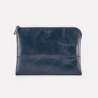 Dark Blue Brooklyn Leather Large Pouch