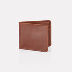 Brown Bridle Leather Billfold Wallet Front View