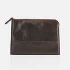 Dark Brown Brooklyn Leather Large Pouch