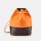 Orange Canvas Duffle Bag front view