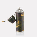 Sherwood Camo Leather Hunter Flask Open View