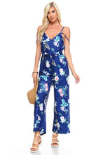 Load image into Gallery viewer, Women's Floral Tie Tank Jumpsuit