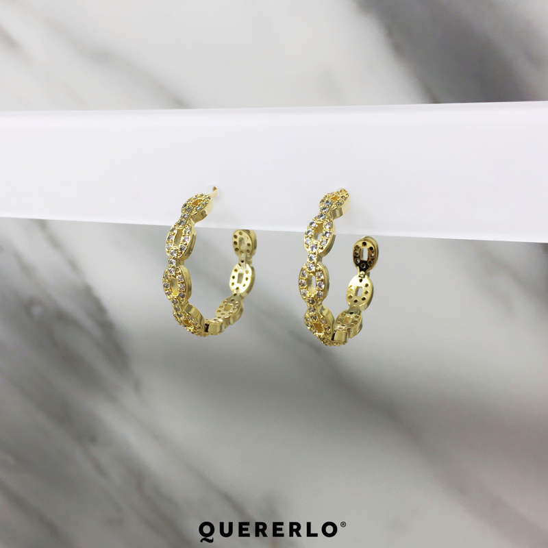 Aretes Hoop Multi Chains