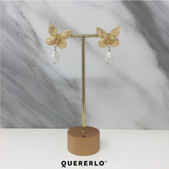 Aretes Butterfly Pearl