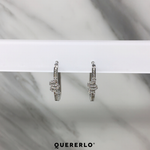 Aretes Snake Hoops Silver