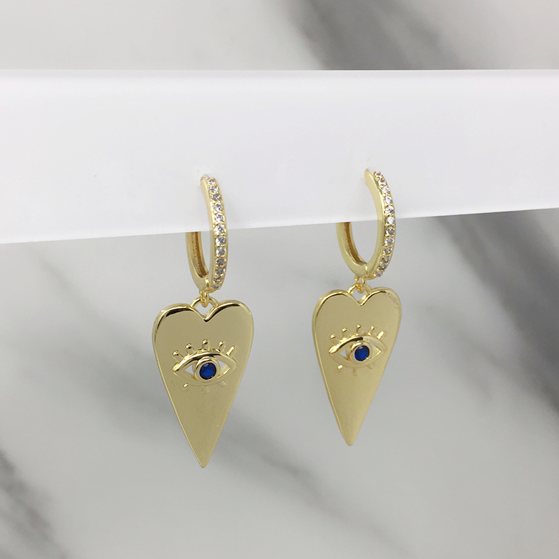 Aretes Heart Blue