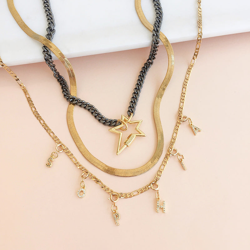 Collar Chain Star Black