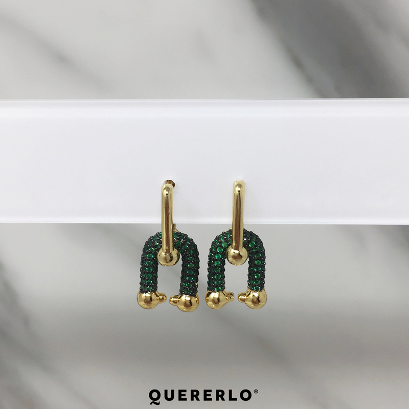 Aretes Madeline Green
