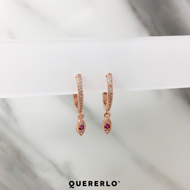 Aretes Ultra Eye Rose Gold