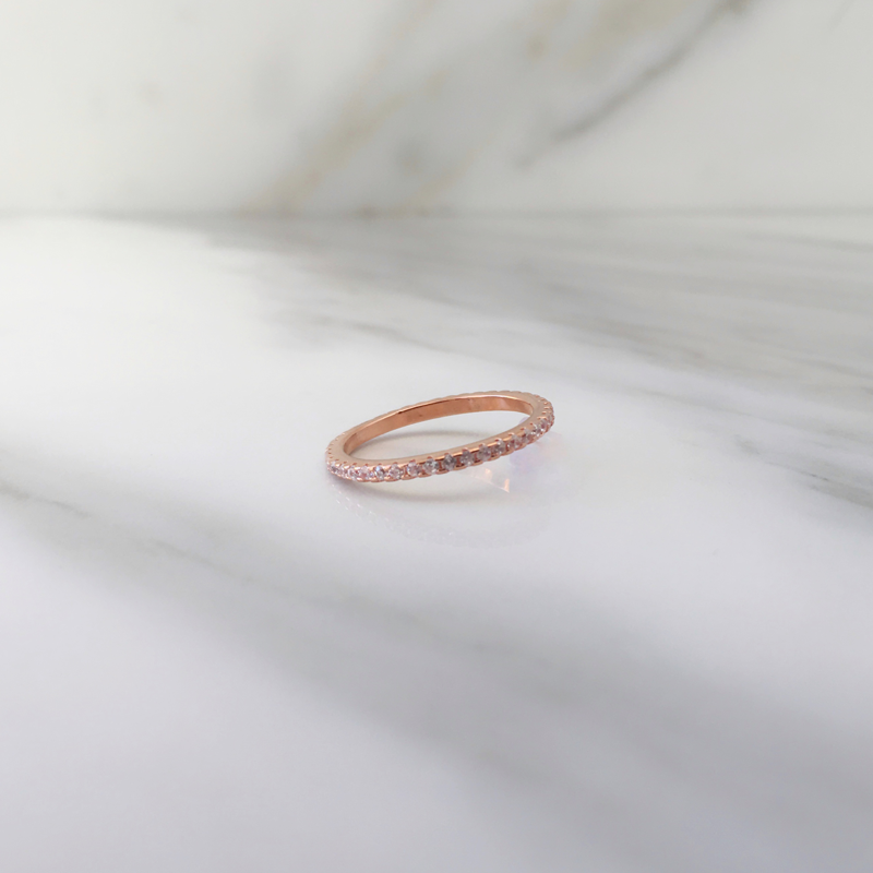 Anillo Eternity Rose Gold
