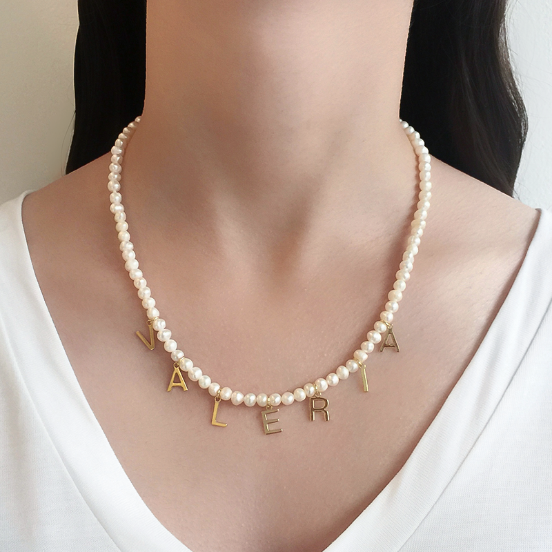 Collar Nombre Pearls