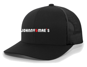 Trucker Snapback Hat (Black)