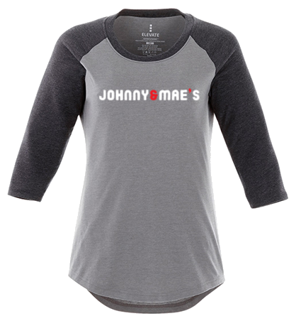 Ladies Baseball Tee (Grey)