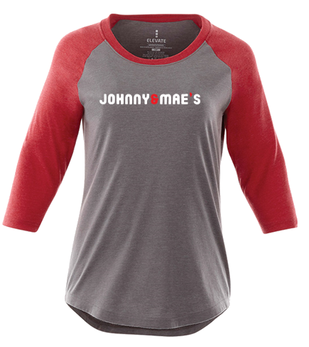 Ladies Baseball Tee (Red)