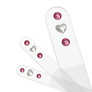 Heart Swarovski® Crystal 3 Piece Set - Pink
