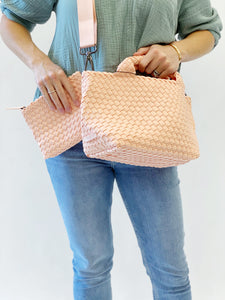 Crossbody Woven Neoprene in Papaya
