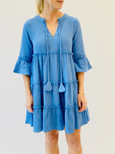 Load image into Gallery viewer, Pacific Blue Gauze Dress