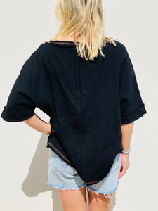After Dark Gauze Top
