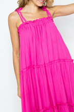 Load image into Gallery viewer, Hot Pink Tiered Maxi