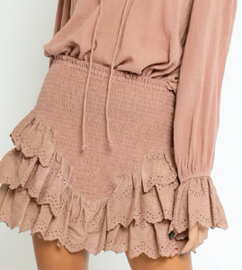 Fun and Flirty Skirt in Blush