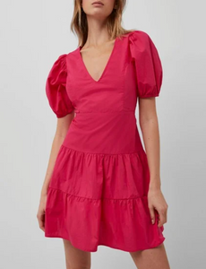 Watermelon Puff Sleeve Dress