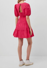 Load image into Gallery viewer, Watermelon Puff Sleeve Dress