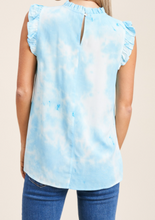 Load image into Gallery viewer, Electric Blue Tie Dye Top