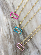 Load image into Gallery viewer, Cotton Candy Paperclip Necklace