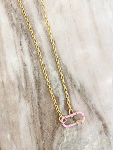 Cotton Candy Paperclip Necklace