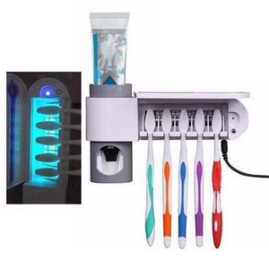Antibacterial UV Light Toothbrush Sterilizer Automatic Toothpaste Dispenser - Etrendpro