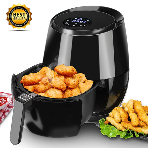 1400W/1350W Electric Deep Fryer Air Fryer Digital LED Touch Screen Timer Temperature Control Power Air Fryer Eletric Air Frier