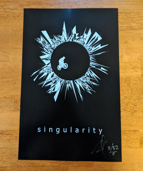 Singularity joker poster - signed and numbered
