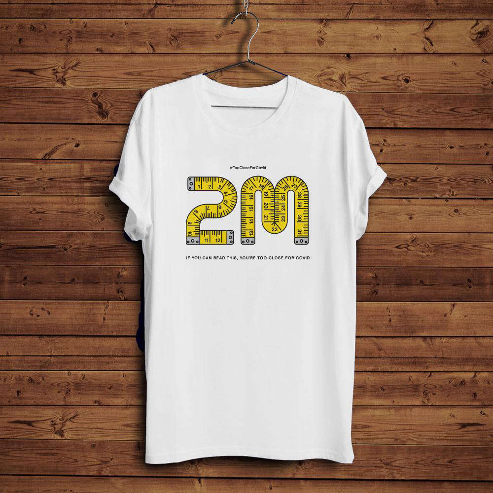 Too Close 2m - T-Shirt (White)
