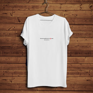 Too Close Frown - T-Shirt (White)