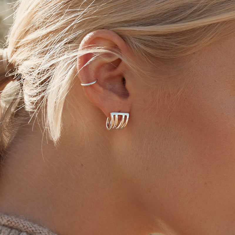 Plain ear cuff wrap sterling silver