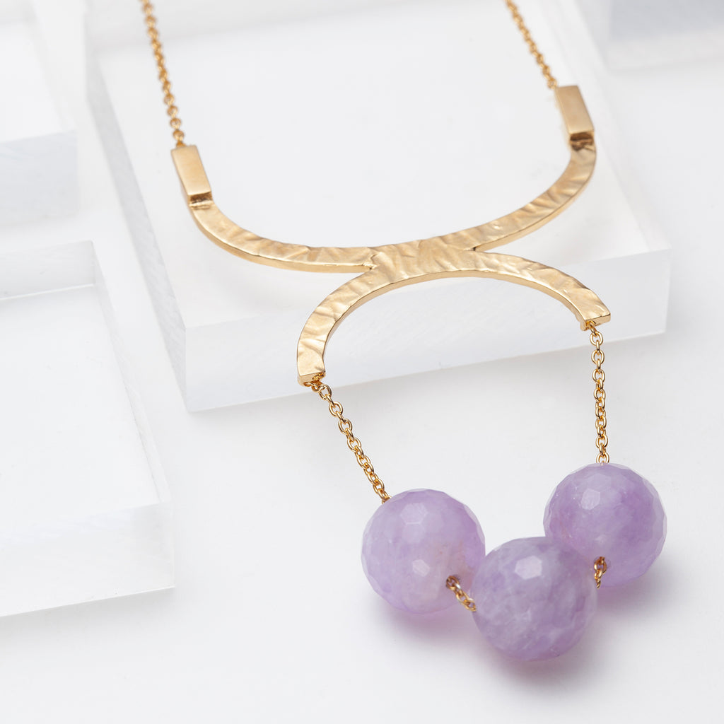 Louise, long amethyst necklace