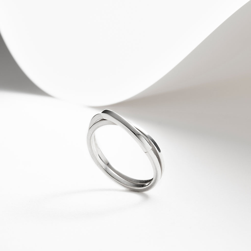 Orbit, sterling silver interlocking rings