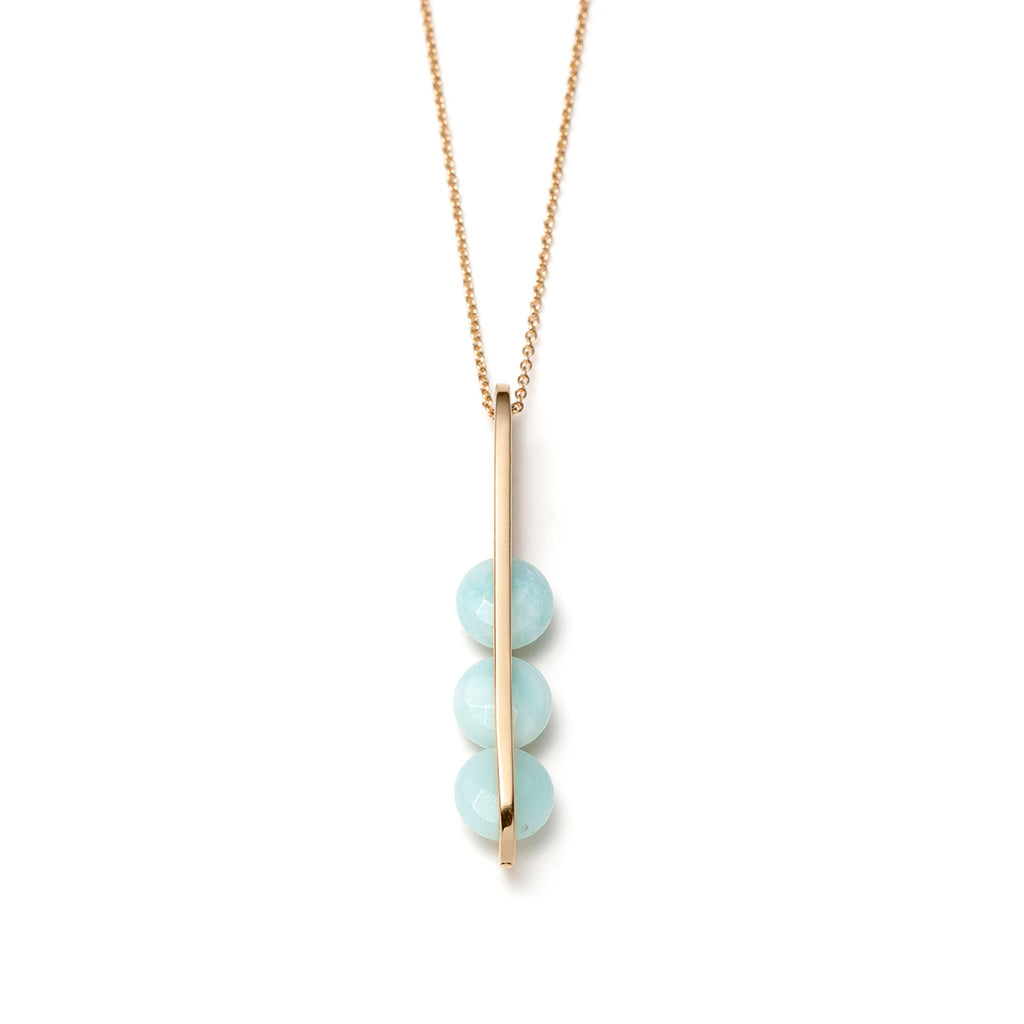 Lucia, Long blue amazonite necklace