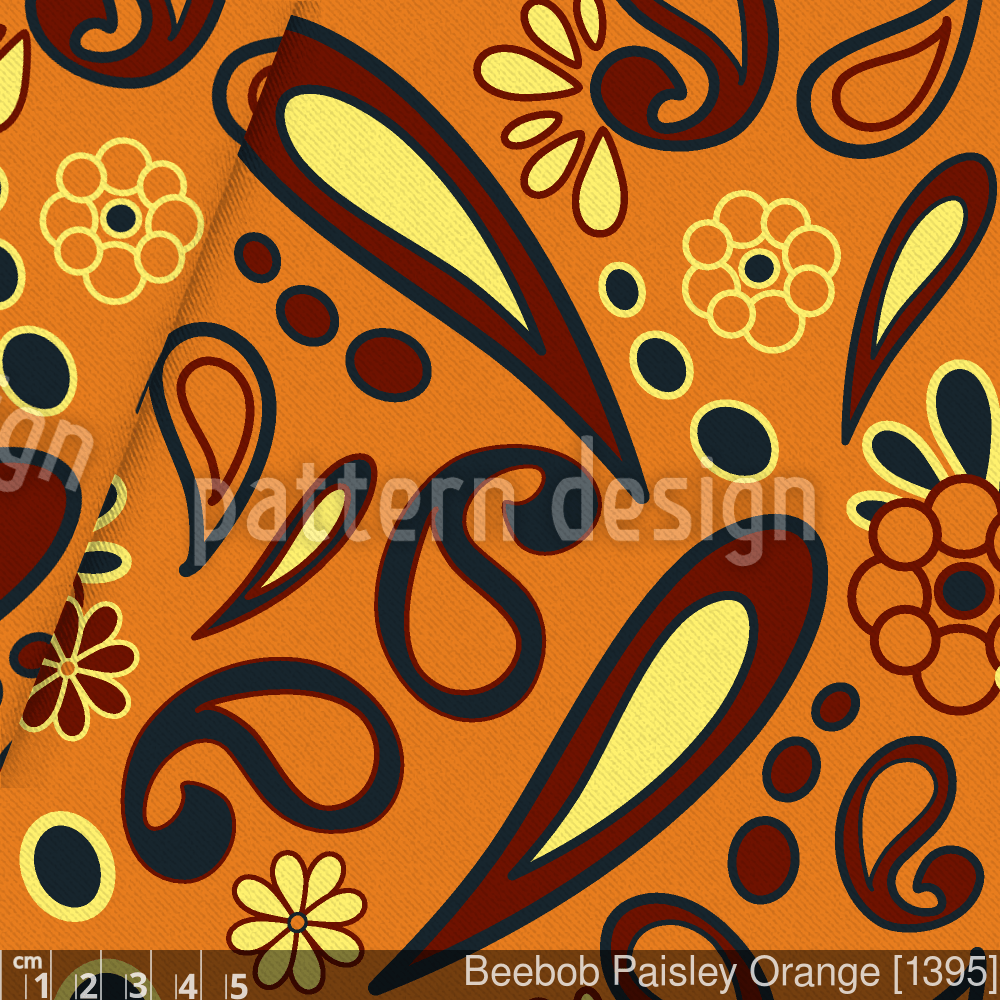 Beebob Paisley Orange